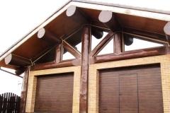 Каркасно-бревенчатый-гараж