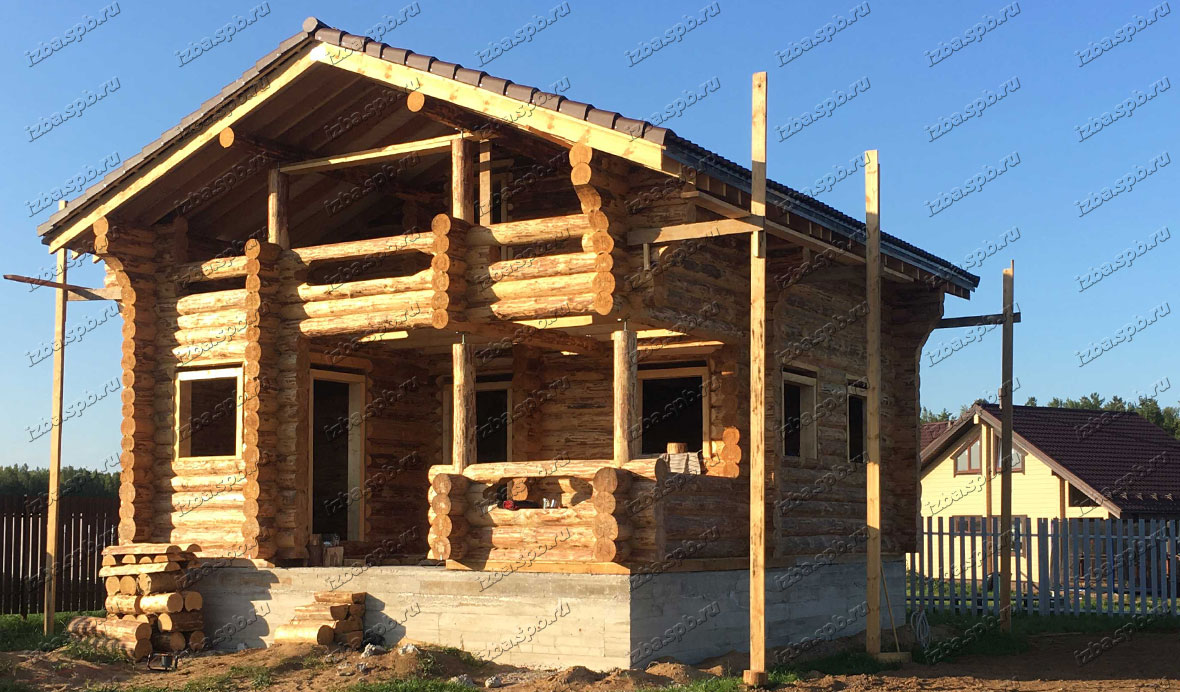 Дом-баня 8х9 в п. Удальцово