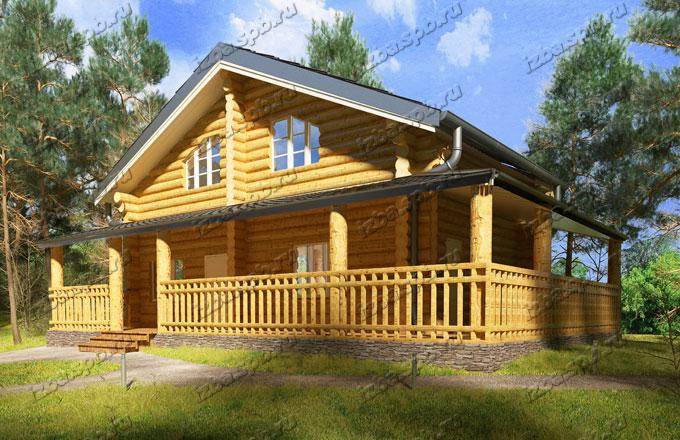 Проект-дома-из-бревна-Пастернак