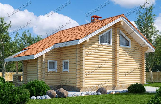 Проект-дома-из-бревна-Белинский-2