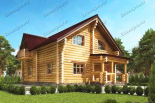 Проект-дома-из-бревна-Грибоедов