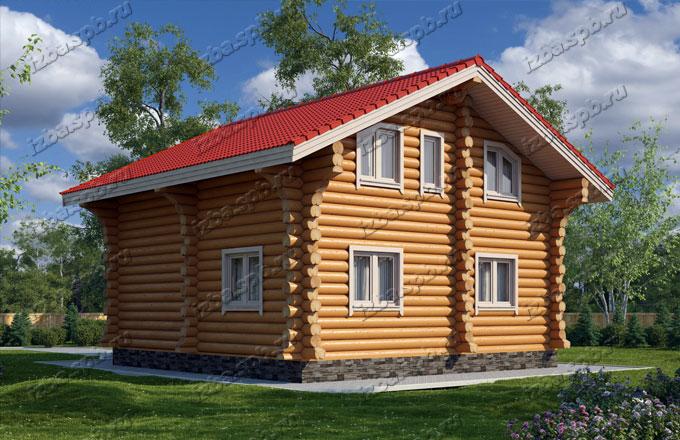 Проект-дома-из-бревна-Репин-2