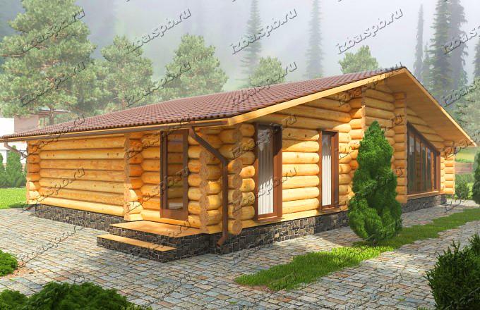 Проект дома из бревна Шуберт. вид1