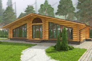 Проект дома из бревна Шуберт. вид2