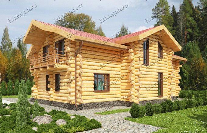 Проект-дома-из-бревна-Достоевский-2