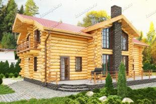Проект-дома-из-бревна-Достоевский
