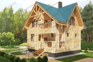 Проект-дома-из-бревна-Куприн