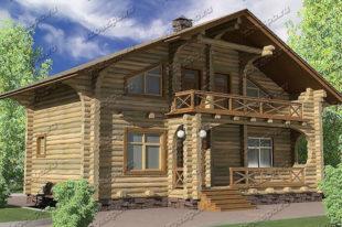 Проект-дома-из-бревна-Лесков