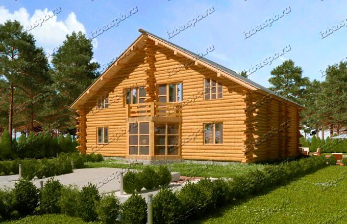 Проект-дома-из-бревна-Маяковский-2