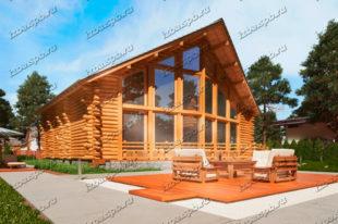 Проект-дома-из-бревна-Маяковский