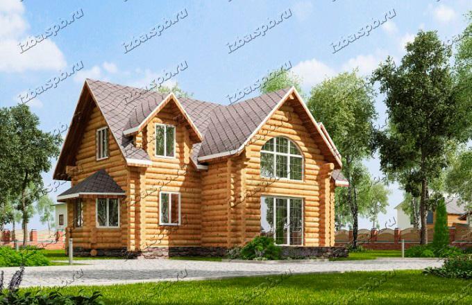 Проект-дома-из-бревна-Пушкин-вид-3