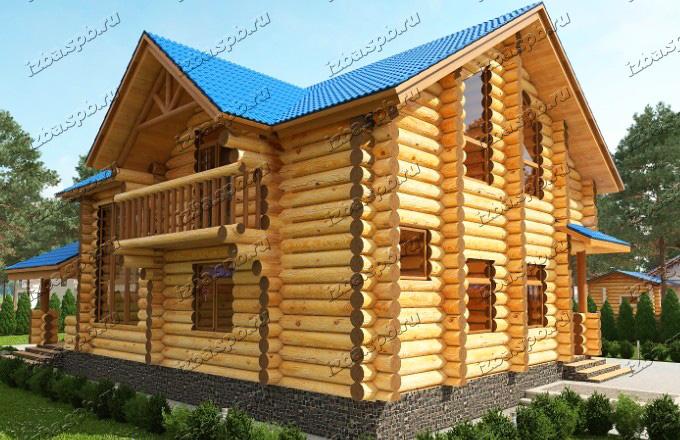 Проект-дома-из-бревна-Распутин-вид-2