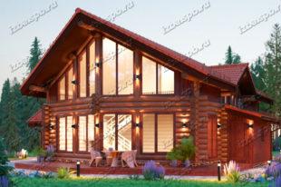 Проект-дома-из-бревна-Шолохов