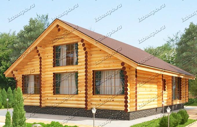 Проект-дома-из-бревна-Твардовский