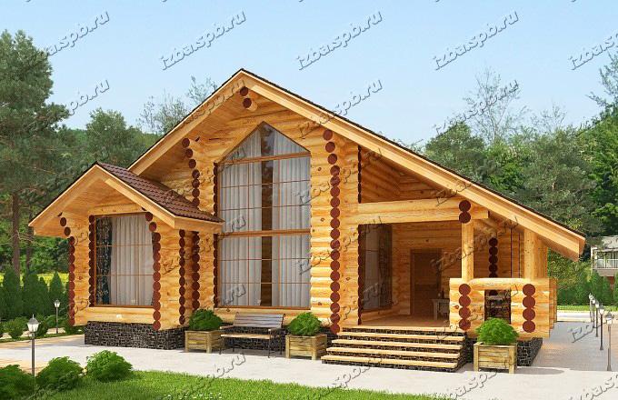 Проект-дома-из-бревна-Твардовский-вид-1