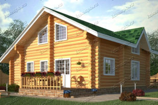 Проект-дома-из-бревна-Жуковский