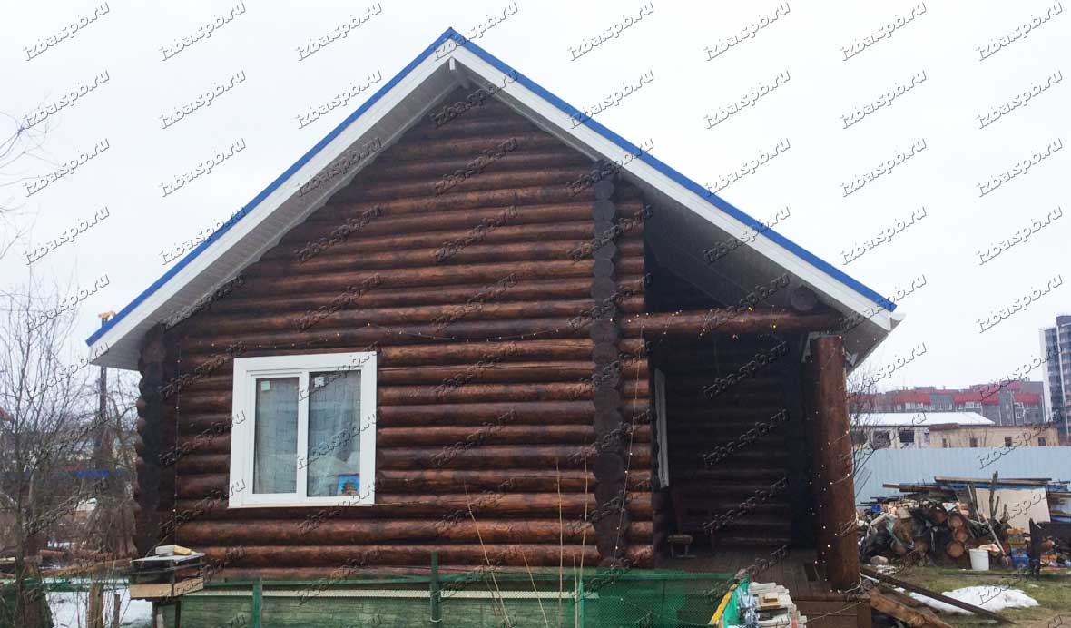 Деревянный-дом-из-бревна-в-Новоселье