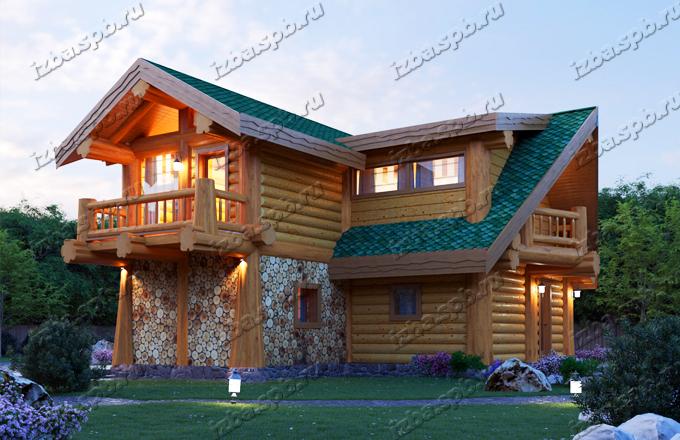 Проект-дома-из-бревна-Беляев-4