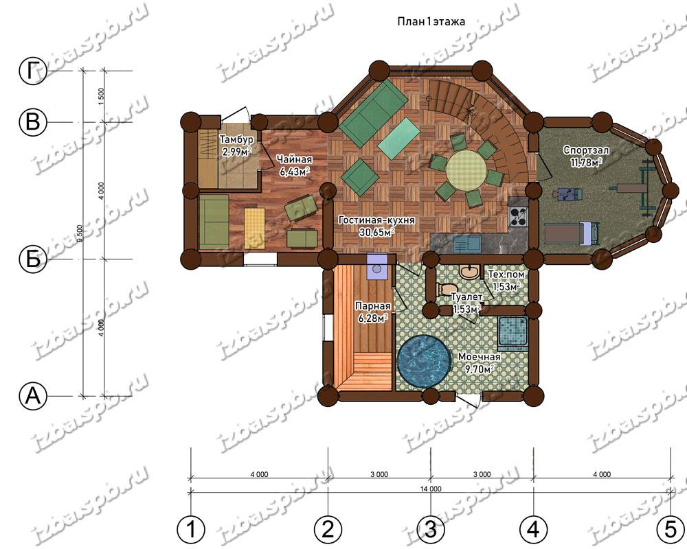 Проект-дома-из-бревна-Беляев-план-2-этажа.