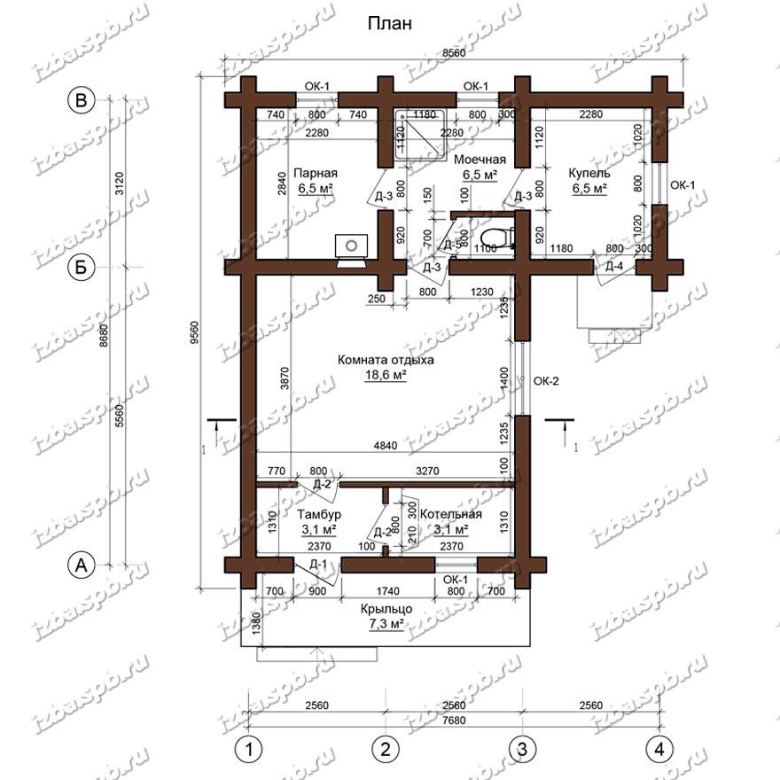 Баня-из-бревна-9х10-планировка-(проект-И117)