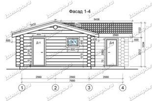 Баня-из-бревна-9х10-вид-1-(проект-И117)