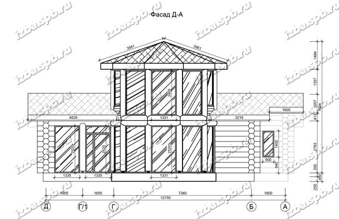 Баня из бревна 9х14