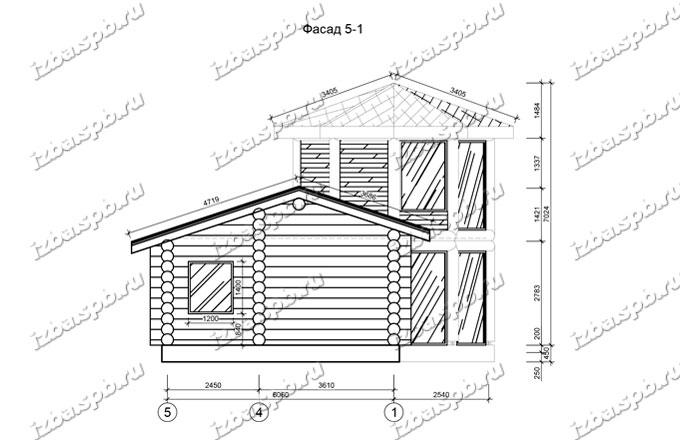 Баня-из-бревна-9х14-вид-2-(проект-Л129)