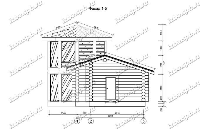 Баня-из-бревна-9х14-вид-3-(проект-Л129)