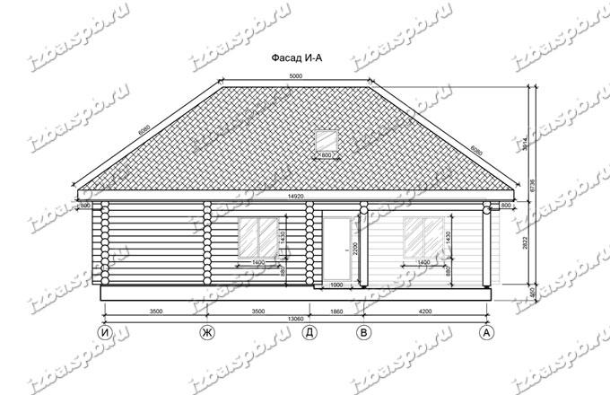 Дом-баня-из-бревна-14х17-вид-2-(проект-Н394)