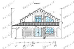 Дом-баня-из-бревна-9х12-вид-1-(проект-Н210)-