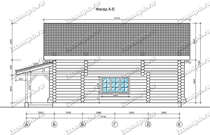 Дом-баня-из-бревна-9х12-вид-2-(проект-Н210)-