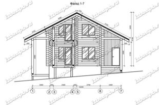 Дом-из-бревна-10,5х11-вид-1-(проект-Л185)