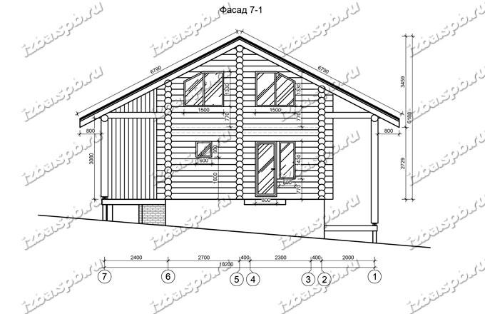 Дом-из-бревна-10,5х11-вид-2-(проект-Л185)