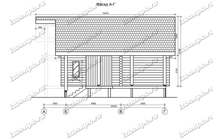 Дом-из-бревна-10,5х11-вид-3-(проект-Л185)
