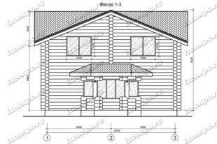 Дом-из-бревна-10,6х14,1,-вид-1-(проект-995)
