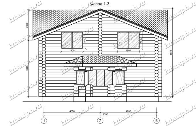 Дом из бревна 11х14