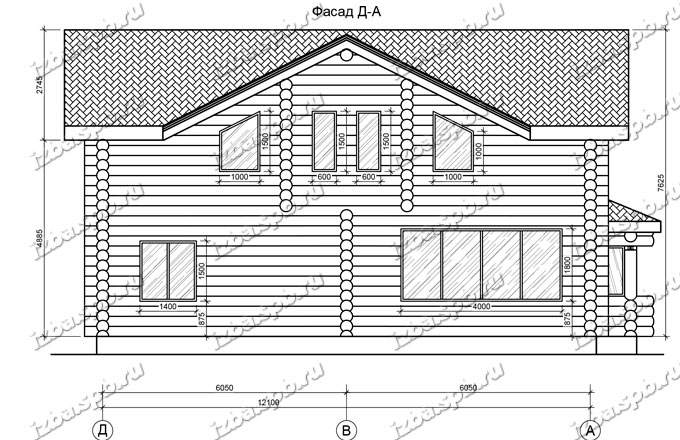 Дом-из-бревна-10,6х14,1,-вид-2-(проект-995)