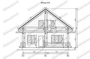 Дом-из-бревна-10х14-вид-1-(проект-Н286)-