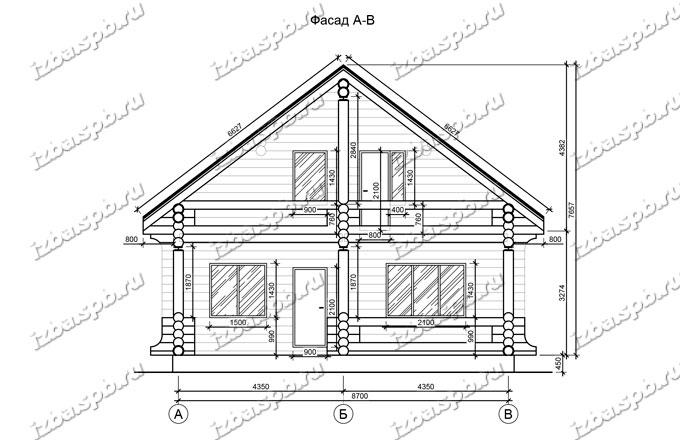 Дом из бревна 10х14