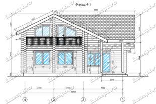 Дом-из-бревна-11х11,5-вид-1-(проект-Н895)