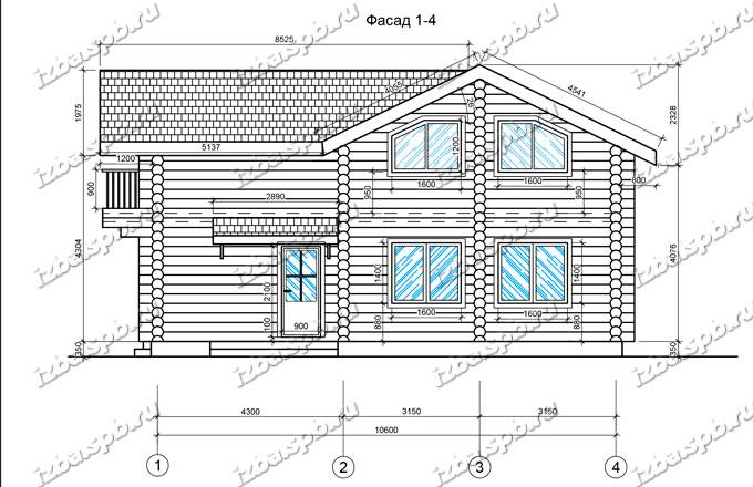 Дом-из-бревна-11х11,5-вид-2-(проект-Н895)