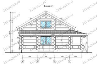 Дом-из-бревна-11х12-вид-1-(проект-Л357)