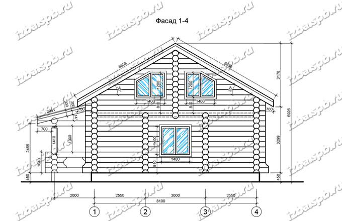 Дом-из-бревна-11х12-вид-2-(проект-Л357)