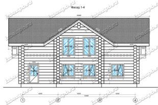 Дом-из-бревна-11х14,5-вид-1-(проект-Н1161)-