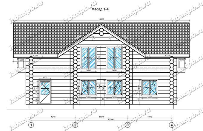 Дом из бревна 11х15