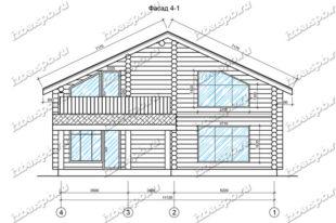 Дом-из-бревна-12х15-вид-1-(проект-Ф375)