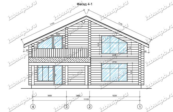 Дом из бревна 12х15