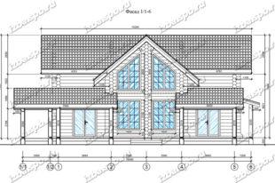 Дом-из-бревна-14х17-вид-1-(проект-Н211-дом)