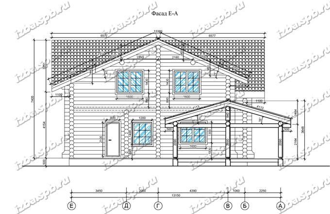 Дом-из-бревна-14х17-вид-2-(проект-Н211-дом)