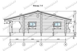 Дом-из-бревна-6х10-вид-1-(проект-Л217)-